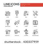 set of modern vector line... | Shutterstock .eps vector #430337959