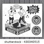 Mexican Wrestler Set. Lucha...
