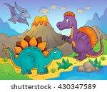 dinosaur topic image 5   eps10... | Shutterstock .eps vector #430347589