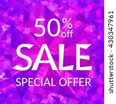 sale banner bright pink... | Shutterstock .eps vector #430347961