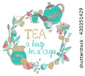 tea time illustration with... | Shutterstock .eps vector #430351429