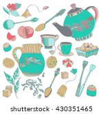 tea time illustration with... | Shutterstock .eps vector #430351465