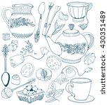 tea time illustration with... | Shutterstock .eps vector #430351489