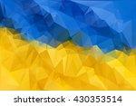 ukraine vector flag. blue and... | Shutterstock .eps vector #430353514