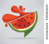 summer watermelon fresh juice... | Shutterstock .eps vector #430362634