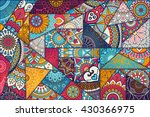 patchwork pattern. vintage... | Shutterstock .eps vector #430366975