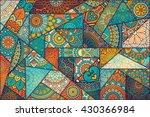 patchwork pattern. vintage... | Shutterstock .eps vector #430366984