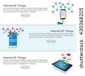 set of web banners internet of... | Shutterstock .eps vector #430368205