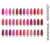 lipstick palette. set of color...   Shutterstock .eps vector #430376527