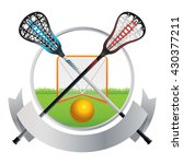 an emblem for a lacrosse match... | Shutterstock .eps vector #430377211