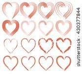 set of symbols heart  isolated... | Shutterstock .eps vector #430377844