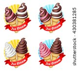 vector illustration of logo ... | Shutterstock .eps vector #430381285