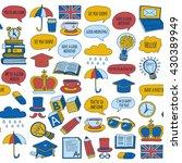vector doodle patterns english... | Shutterstock .eps vector #430389949