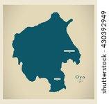 modern map   oyo ng | Shutterstock .eps vector #430392949
