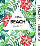 bright hawaiian design with... | Shutterstock .eps vector #430398259