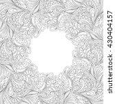 vector monochrome floral... | Shutterstock .eps vector #430404157