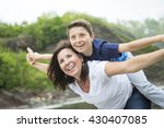 a mother and son playing in... | Shutterstock . vector #430407085