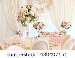 wedding banquet decoration in... | Shutterstock . vector #430407151