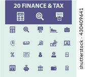 finance icons  | Shutterstock .eps vector #430409641
