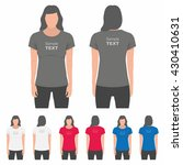 t shirt women back and front.... | Shutterstock .eps vector #430410631