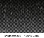 rain drops on the transparent... | Shutterstock .eps vector #430412281