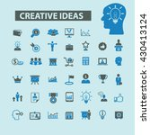 creative ideas icons  | Shutterstock .eps vector #430413124