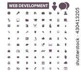 web development icons  | Shutterstock .eps vector #430413205