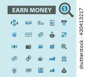 earn money icons  | Shutterstock .eps vector #430413217
