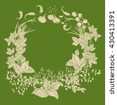 wreath of vector italian... | Shutterstock .eps vector #430413391