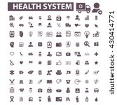 health system icons  | Shutterstock .eps vector #430414771