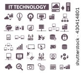 it technology icons  | Shutterstock .eps vector #430414801