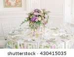 bright tones wedding decoration | Shutterstock . vector #430415035