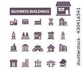business buildings icons  | Shutterstock .eps vector #430416541