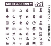 audit survey icons  | Shutterstock .eps vector #430416919