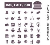 bar  cafe  cafeteria  pub icons  | Shutterstock .eps vector #430416949