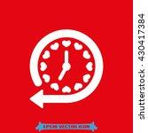 clock arrow icon vector...   Shutterstock .eps vector #430417384