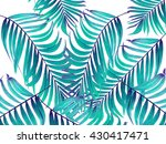 green leaves of palm tree on... | Shutterstock . vector #430417471