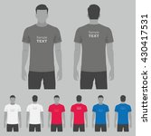 t shirt men back and front. men ... | Shutterstock .eps vector #430417531