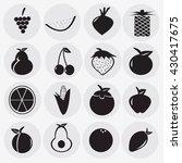 fruit icon | Shutterstock .eps vector #430417675