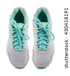 gray running shoes  isolated on ... | Shutterstock . vector #430418191
