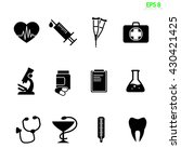 the medical icon set isolated... | Shutterstock .eps vector #430421425