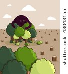 a monster protects the forest... | Shutterstock .eps vector #43043155