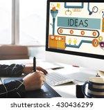 innovation ideas imagine... | Shutterstock . vector #430436299