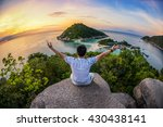 beautiful island with the... | Shutterstock . vector #430438141