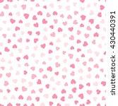 seamless hearts pattern. vector ... | Shutterstock .eps vector #430440391