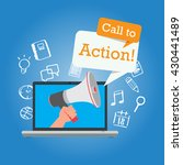 call to action button marketing ... | Shutterstock .eps vector #430441489