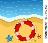 summer background with starfish ...   Shutterstock .eps vector #430442551