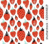 hand drawn seamless pattern... | Shutterstock .eps vector #430444819