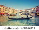 gondola near rialto bridge in... | Shutterstock . vector #430447051