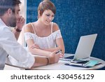 mentorship between male tutor...   Shutterstock . vector #430456129
